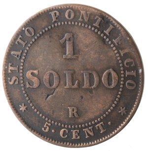 reverse: Roma. Pio IX. Soldo 1866 An XXI. Ae.