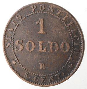 reverse: Roma. Pio IX. Soldo 1867 An XXI. Ae.