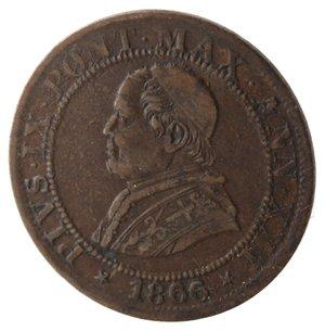 obverse: Roma. Pio IX. Mezzo Soldo 1866 An XXI. Ae.