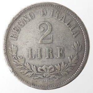 reverse: Vittorio Emanuele II. 2 Lire 1863 Valore Napoli. Ag.