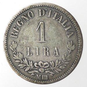 reverse: Vittorio Emanuele II. Lira 1863 Valore Milano. Ag.