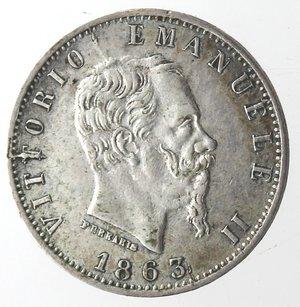 obverse: Vittorio Emanuele II. 20 Centesimi 1863 Valore Milano. Ag.