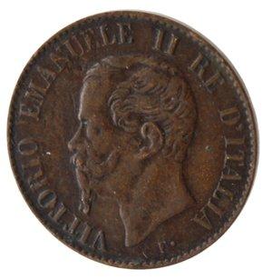obverse: Vittorio Emanuele II. Centesimo 1867 Milano. Ae.