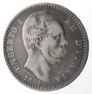 obverse: Umberto I. 2 Lire 1881. Ag.