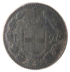 reverse: Umberto I. 2 Lire 1881. Ag.