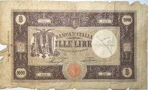 obverse: Banconote. Regno D Italia. 1.000 lire Grande M (Decreto). Dec. Min. 08-08-1926.