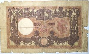 reverse: Banconote. Regno D Italia. 1.000 lire Grande M (Decreto). Dec. Min. 08-08-1926.