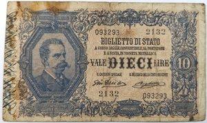 obverse: Banconote. Regno D italia. 10 lire. 11/10/1915.