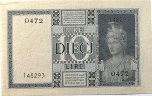 reverse: Banconote. Regno d Italia. 10 Lire. Impero. 1935 XIII. 18/06/1935.