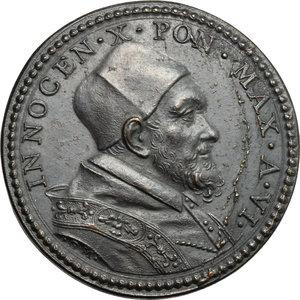 obverse: Innocenzo X (1644-1655), Giovanni Battista Pamphili di Roma. Medaglia A. VI, per la Lavanda