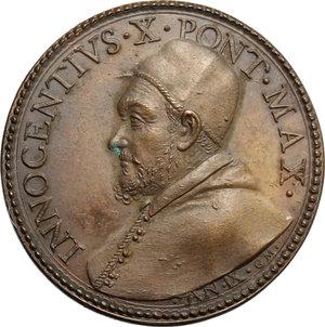 obverse: Innocenzo X (1644-1655), Giovanni Battista Pamphili di Roma. Medaglia annuale, A. IX