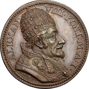 obverse: Alessandro VIII (1689-1691), Pietro Vito Ottoboni di Venezia.. Medaglia A. I, per l elezione al pontificato