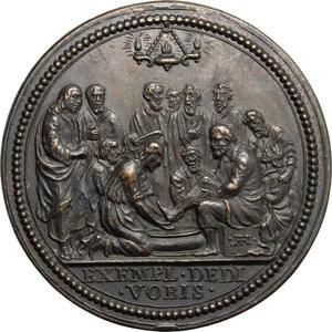R/ Innocenzo XII (1691-1700), Antonio Pignatelli di Spinazzola. Medaglia A. VIII, per la Lavanda.  D/ Busto a destra con camauro, mozzetta e stola. R/ La Lavanda. Mis. 329. Lincoln 1574. Mazio 373. Patr. VIII / 4. AE.   mm. 29.70 Inc. G. Hamerani.  Riconio Mazio. SPL+.