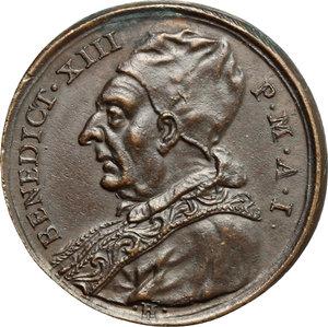 obverse: Benedetto XIII (1724-1730), Pietro Francesco Orsini di Gravina di Puglia. Medaglia A. I, per l elezione al Pontificato