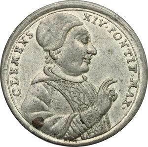 obverse: Clemente XIV (1769-1774), Gian Vincenzo Ganganelli  di Santarcangelo di Romagna. Medaglia per l abolizione dell ordine dei Gesuiti, 1773
