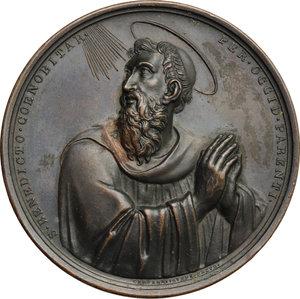 obverse: Gregorio XVI (1831-1846), Bartolomeo Alberto  Cappellari di Belluno. Medaglia straordinaria 1834, per la visita del Pontefice all Ospizio Apostolico del San Michele a Roma