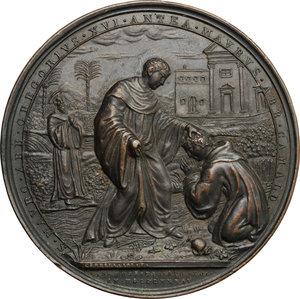 reverse: Gregorio XVI (1831-1846), Bartolomeo Alberto  Cappellari di Belluno. Medaglia straordinaria 1834, per la visita del Pontefice all Ospizio Apostolico del San Michele a Roma