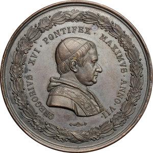 obverse: Gregorio XVI (1831-1846), Bartolomeo Alberto  Cappellari di Belluno. Medaglia A. VII, per l inaugurazione del Museo Gregoriano Etrusco