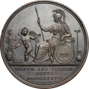 reverse: Gregorio XVI (1831-1846), Bartolomeo Alberto  Cappellari di Belluno. Medaglia A. VII, per l inaugurazione del Museo Gregoriano Etrusco