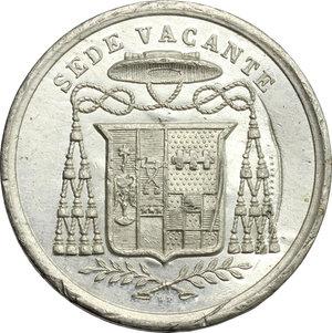 obverse: Sede Vacante (1846).. Medaglia per  Mons. Aleramo Pallavicino, Prefetto dei Sacri Palazzi Apostolici, Maggiordomo e Governatore del Conclave
