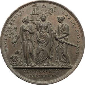 reverse: Pio IX  (1846-1878), Giovanni Mastai Ferretti di Senigallia. Medaglia per il Possesso del Laterano