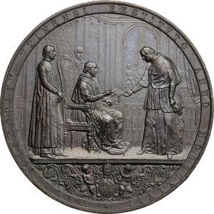 obverse: Pio IX  (1846-1878), Giovanni Mastai Ferretti di Senigallia. Medaglia 1847