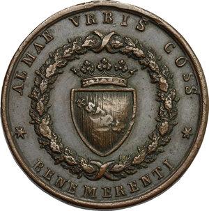 obverse: Pio IX  (1846-1878), Giovanni Mastai Ferretti di Senigallia. Medaglia 1848