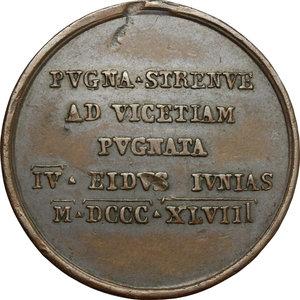 reverse: Pio IX  (1846-1878), Giovanni Mastai Ferretti di Senigallia. Medaglia 1848