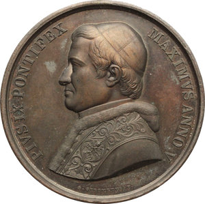 obverse: Pio IX  (1846-1878), Giovanni Mastai Ferretti di Senigallia. Medaglia A. V