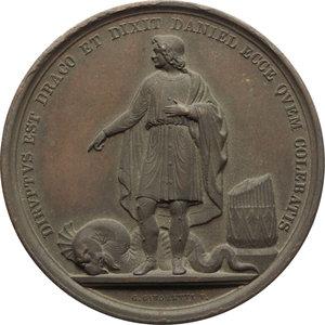 reverse: Pio IX  (1846-1878), Giovanni Mastai Ferretti di Senigallia. Medaglia A. V
