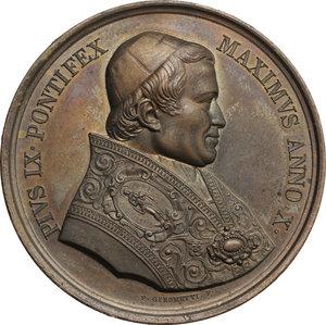 obverse: Pio IX  (1846-1878), Giovanni Mastai Ferretti di Senigallia. Medaglia annuale, A. X