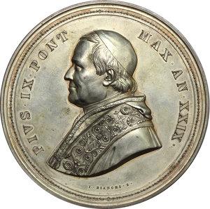 obverse: Pio IX  (1846-1878), Giovanni Mastai Ferretti. Medaglia di massimo modulo, A. XXIX, 1874