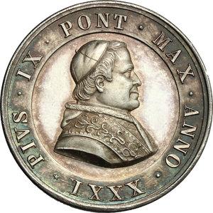 obverse: Pio IX  (1846-1878), Giovanni Mastai Ferretti di Senigallia. Medaglia A. XXXI, 1877