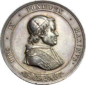 obverse: Pio IX  (1846-1878), Giovanni Mastai Ferretti di Senigallia. Medaglia