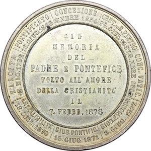 reverse: Pio IX  (1846-1878), Giovanni Mastai Ferretti di Senigallia. Medaglia per la morte del Pontefice