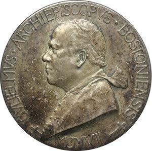 obverse: Diocesi di Boston, William O  Connel Arcivescovo (1859-1944). Medaglia 1908 per il centenario della Diocesi