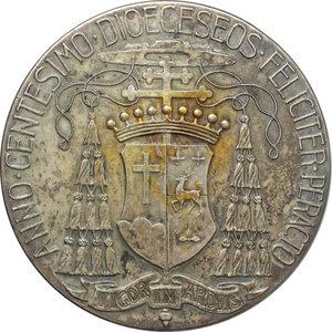 reverse: Diocesi di Boston, William O  Connel Arcivescovo (1859-1944). Medaglia 1908 per il centenario della Diocesi