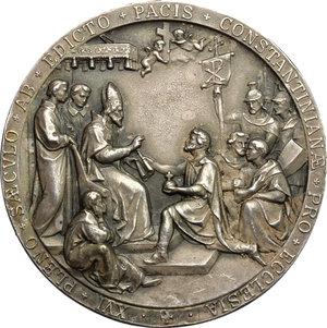 obverse: Pio X (1903-1914), Giuseppe Melchiorre Sarto di Riese. Medaglia 1913, per ricordare il sedicesimo secolo dell Editto dell Imperatore Costantino