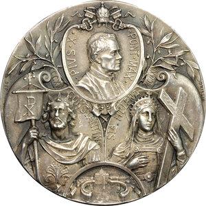 reverse: Pio X (1903-1914), Giuseppe Melchiorre Sarto di Riese. Medaglia 1913, per ricordare il sedicesimo secolo dell Editto dell Imperatore Costantino