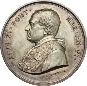 obverse: Pio XI (1922-1939), Achille Ratti di Desio.. Medaglia annuale, A. VI