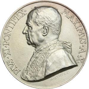 obverse: Pio XI (1922-1939), Achille Ratti di Desio.. Medaglia annuale, A. X