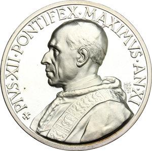 obverse: Pio XII (1939-1959), Eugenio Pacelli di Roma. . Medaglia annuale, A. XI