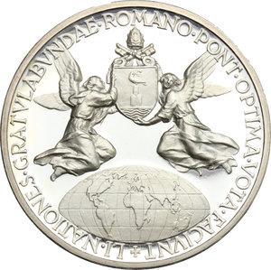 reverse: Pio XII (1939-1959), Eugenio Pacelli di Roma. . Medaglia 1956, omaggio del Mondo al pontificato di Pio XII