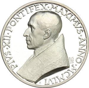 obverse: Pio XII (1939-1959), Eugenio Pacelli di Roma. . Medaglia 1956 per l ottantesimo compleanno del Pontefice