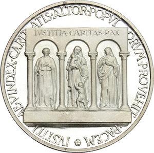 reverse: Pio XII (1939-1959), Eugenio Pacelli di Roma. . Medaglia 1956 per l ottantesimo compleanno del Pontefice