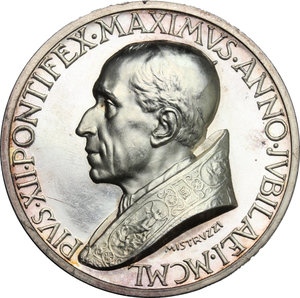 obverse: Pio XII (1939-1959), Eugenio Pacelli di Roma. . Medaglia straordinaria per la proclamazione del dogma dell Assunzione della Beata Vergine in cielo