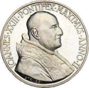obverse: Giovanni XXIII (1958-1963), Angelo Roncalli di Sotto il Monte.. Medaglia annuale, A. II