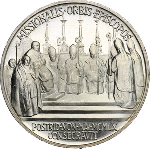 reverse: Giovanni XXIII (1958-1963), Angelo Roncalli di Sotto il Monte.. Medaglia annuale, A. II