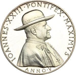 obverse: Giovanni XXIII (1958-1963), Angelo Roncalli di Sotto il Monte.. Medaglia annuale, A. V
