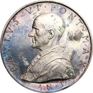obverse: Paolo VI (1963-1678), Giovanni Battista Montini di Concesio. . Medaglia annuale, A. I